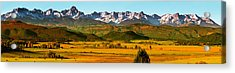 Dallas Divide In Autumn Panorama Acrylic Print