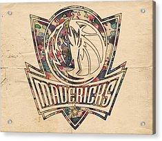 Dallas Mavericks Poster Art Acrylic Print by Florian Rodarte