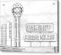 Dallas Acrylic Print by Michael Lewis
