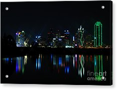 Dallas Reflections Acrylic Print by Charles Dobbs
