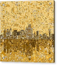 Dallas Skyline Abstract 6 Acrylic Print