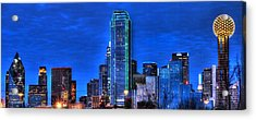 Dallas Skyline Hd Acrylic Print