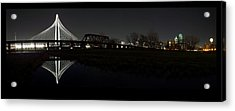 Dallas Skyline Hunt Bridge Color Acrylic Print