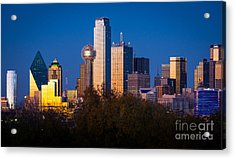 Dallas Skyline Acrylic Print by Inge Johnsson