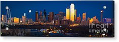 Dallas Skyline Panorama Acrylic Print by Inge Johnsson