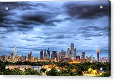 Dallas Skyline Acrylic Print by Shawn Everhart