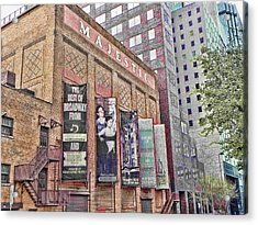 Acrylic Print featuring the photograph Dallas Texas Majestic Theater by Kathy Churchman