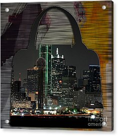 Dallas Texas Skyline In A Purse Acrylic Print