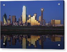 Dallas Twilight Acrylic Print