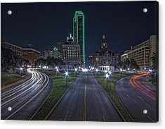 Dallas West End At Night Acrylic Print