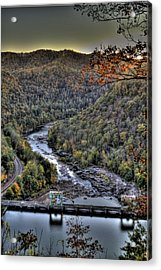 Acrylic Print featuring the photograph Dam In The Forest by Jonny D