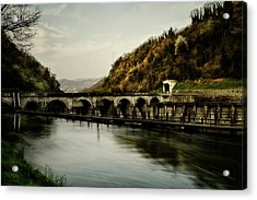 Dam On Adda River Acrylic Print