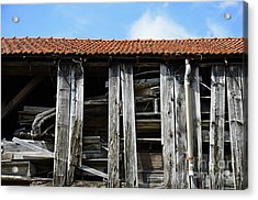 Damaged Old Wooden Building Acrylic Print by Sami Sarkis