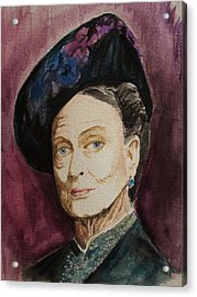 Dame Maggie Smith Acrylic Print by Amber Stanford
