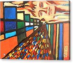 Acrylic Print featuring the painting Dame Tessa 01 by Mudiama Kammoh