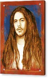 Damian Marley - Stylised Drawing Art Poster Acrylic Print by Kim Wang
