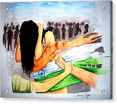 Delhi Gang Rape A Tragedy Acrylic Print by Tanmay Singh