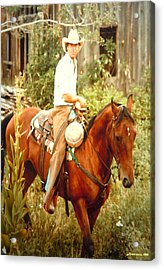 Dan Fogelberg Riding By The Old Schoolhouse Acrylic Print
