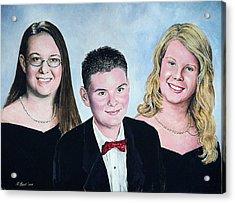 Dana Curtis And Viktoria Acrylic Print by Andrew Read