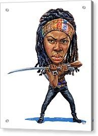 Danai Gurira As Michonne Acrylic Print by Art