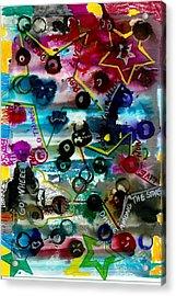 Dance Among Stars Acrylic Print