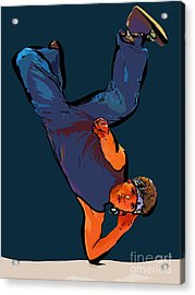 Dance Art Dancer 23 Acrylic Print by College Town