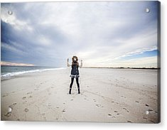 Dance At The Beach Acrylic Print