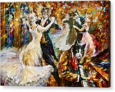 Dance Ball Of Cats  Acrylic Print by Leonid Afremov