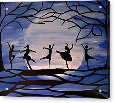 Dance By The Light Of The Moon Acrylic Print by Rachel Olynuk