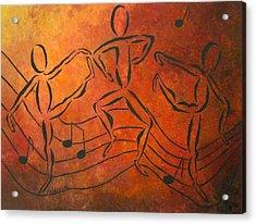 Dance Fever Acrylic Print by Pamela Allegretto