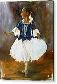 Acrylic Print featuring the painting Dance For Papa by Rick Fitzsimons