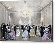 Dance Hall Of Mr. Laborde. Litography Acrylic Print by Everett