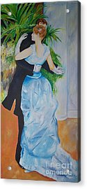 Acrylic Print featuring the painting Dance In The City  by Eric  Schiabor