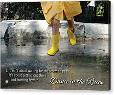 Dance In The Rain Acrylic Print