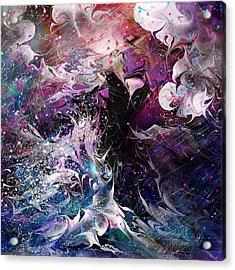 Dance In The Seas Acrylic Print by Rachel Christine Nowicki
