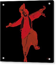 Dance Like A Punjabi Man Acrylic Print by Nop Briex