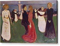 Dance Of Life Acrylic Print by Edvard Munch
