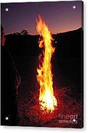 Acrylic Print featuring the photograph Woman In The Fire by Ankya Klay