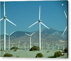 Dance Of The Wind Turbines Acrylic Print