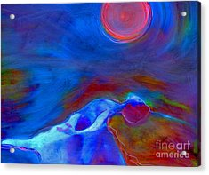 Dance Under A Full Moon Acrylic Print by FeatherStone Studio Julie A Miller