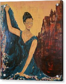 Dance With Your Soul Acrylic Print by Kathy Peltomaa Lewis