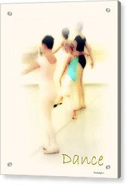Acrylic Print featuring the mixed media Dance by YoMamaBird Rhonda