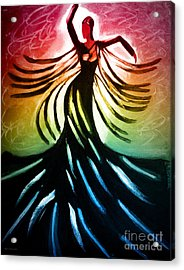 Dancer 3 Acrylic Print by Anita Lewis