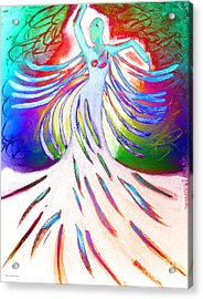 Dancer 4 Acrylic Print by Anita Lewis