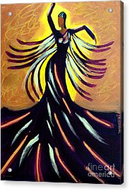 Dancer Acrylic Print by Anita Lewis