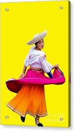Dancer At Pase Del Nino In Cuenca Ecuador Acrylic Print