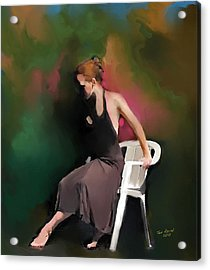 Dancer At Rest Acrylic Print by Ted Azriel