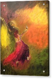 Acrylic Print featuring the painting Dancer by Brindha Naveen