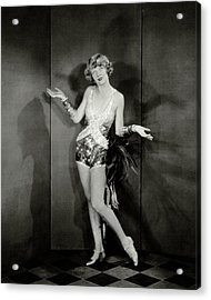 Dancer Frances Williams In The Play Scandals Acrylic Print by Charles Sheeler