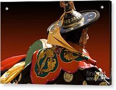 Acrylic Print featuring the digital art Dancer From Bhutan by Angelika Drake